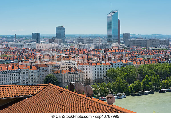 Lyon in a summer day - csp40787995