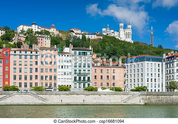 Lyon in a sunny summer day - csp16681094