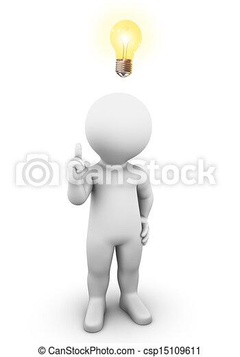 lys, ide, pære - csp15109611