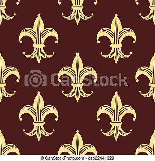 lys mod le de seamless jaune fleur fond papier peint tuiles color fleur de lis or. Black Bedroom Furniture Sets. Home Design Ideas