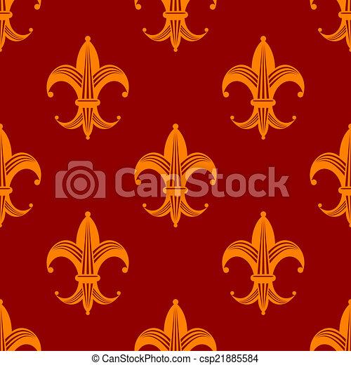 lys muster de k niglich seamless fleur orange tapete vektor suche clipart. Black Bedroom Furniture Sets. Home Design Ideas