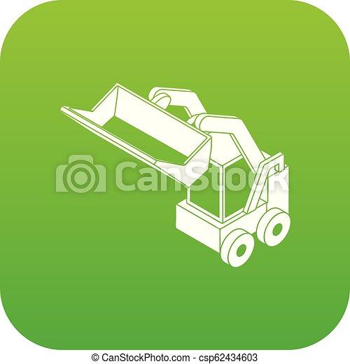 Vector verde de la máquina de Bobcat - csp62434603