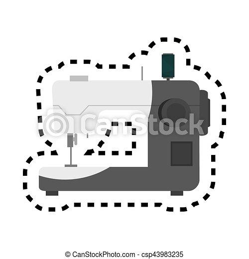Una máquina de coser icono aislado - csp43983235