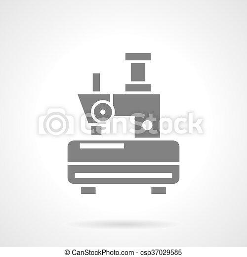 Una máquina de coser icono vector de vectores de un solo hilo - csp37029585