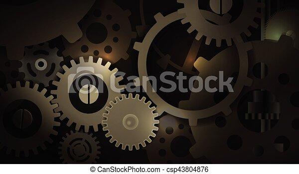 Dentro de la máquina - csp43804876