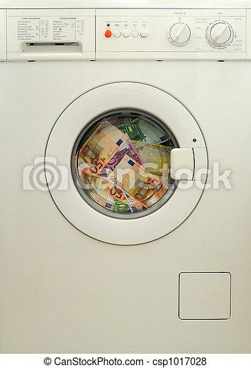 Lavado de dinero en la lavadora - csp1017028