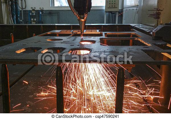 máquina, laser, cortador - csp47590241