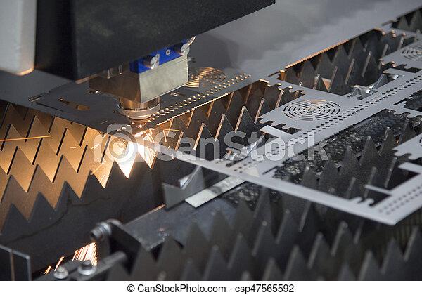 máquina, laser, cortador - csp47565592