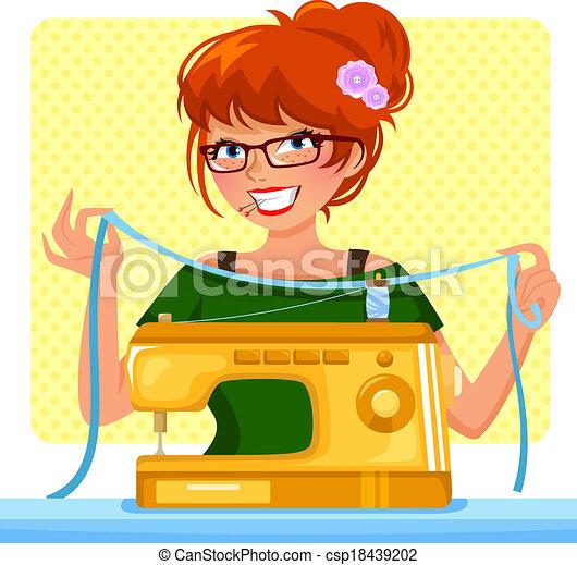 Una máquina de coser - csp18439202