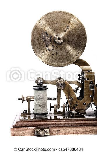 máquina, viejo, telégrafo - csp47886484