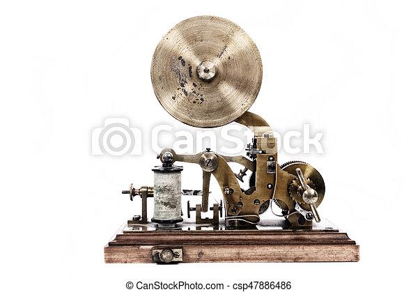 máquina, viejo, telégrafo - csp47886486