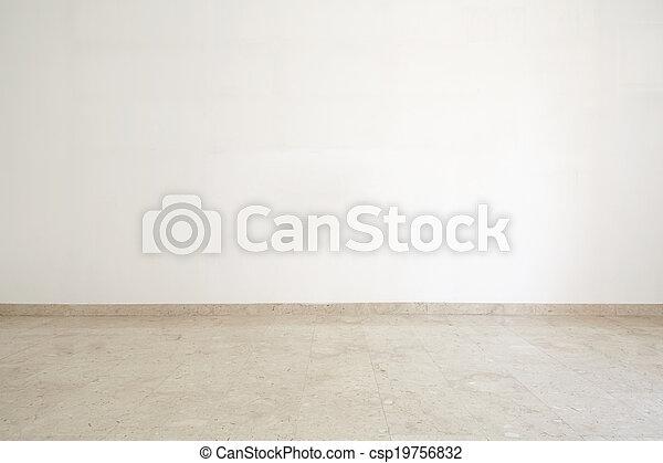 Habitación vacía con suelo de mármol - csp19756832