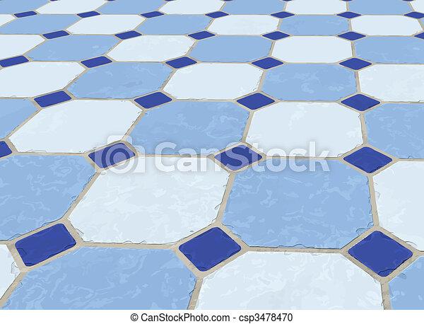 Piso azulado - csp3478470