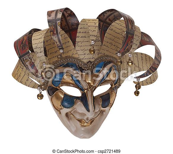 máscara, arlequín - csp2721489