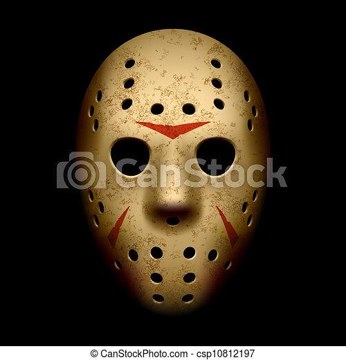 Una máscara de hockey aterradora - csp10812197