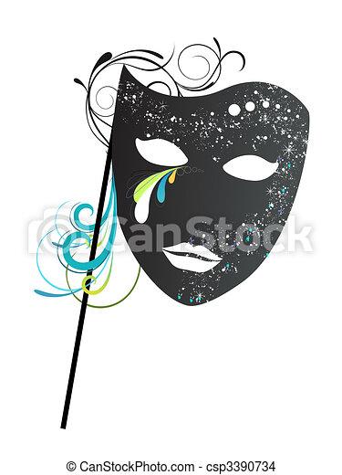 Máscara de carnaval - csp3390734