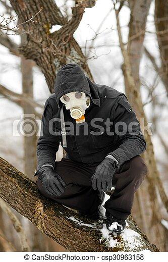máscara gás, homem - csp30963158
