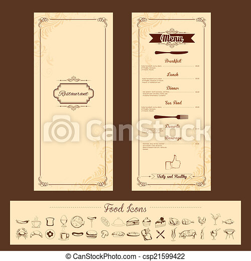 máscara menu, cartão - csp21599422