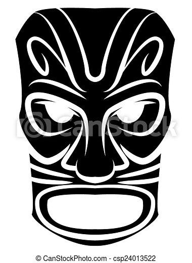 Máscara de tótem negro - csp24013522