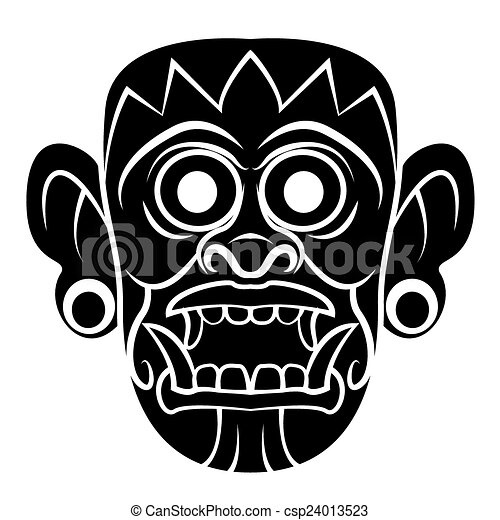 Máscara de tótem negro - csp24013523
