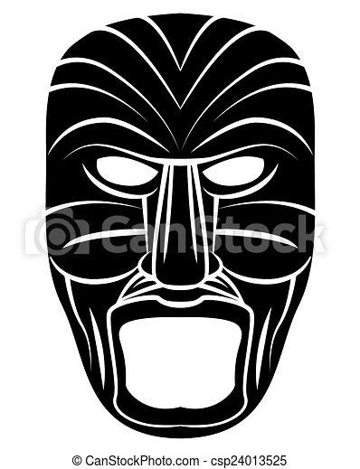 Máscara de tótem negro - csp24013525