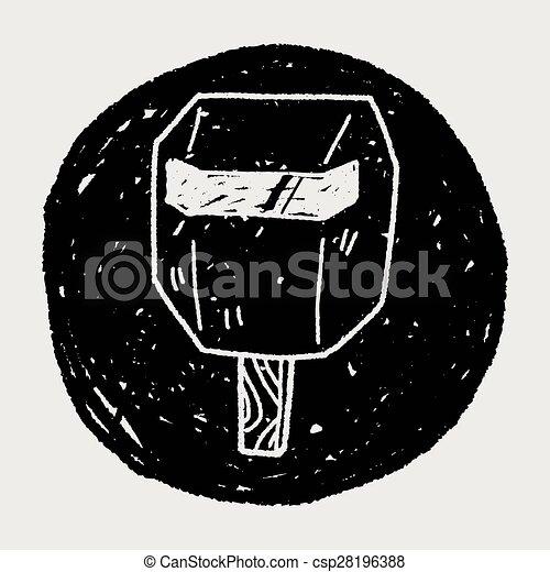 Un garabato de la soldadura - csp28196388