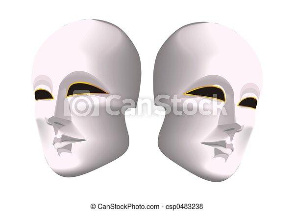 máscara teatro - csp0483238