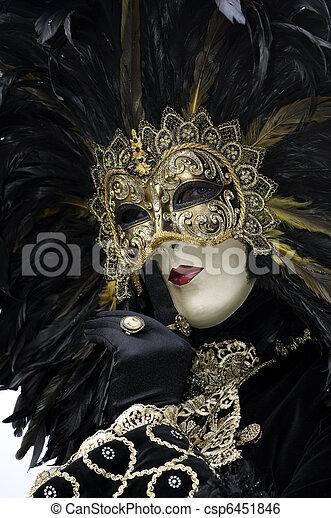 Máscara de carnaval veneciana - csp6451846