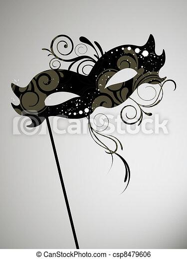 Máscara veneciana - csp8479606
