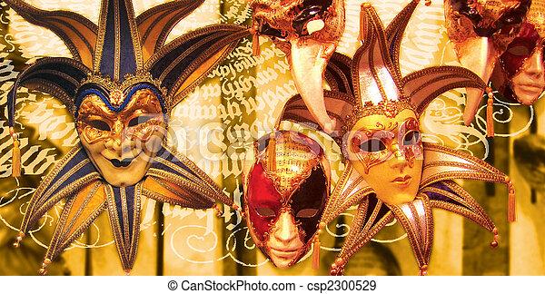 Máscara veneciana - csp2300529