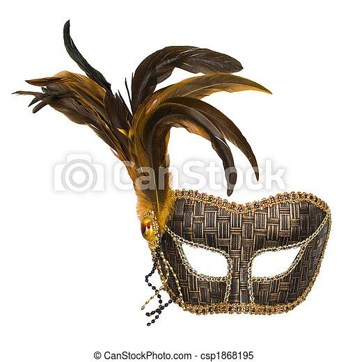 Una máscara veneciana con plumas - csp1868195