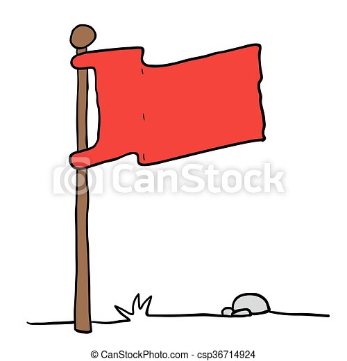 Bandera En Un Poste Bandera En Una Ilustración De Dibujos