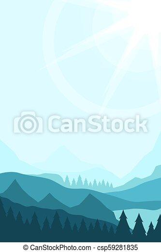 Paisaje con picos de montaña - csp59281835