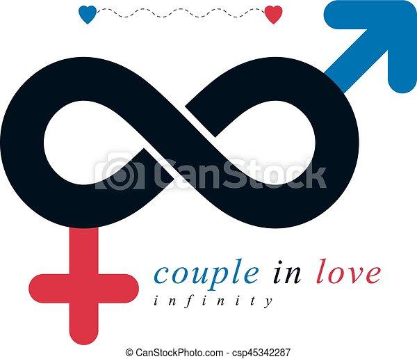 m le amour relation cr concept symbole cr atif vecteur search clip art. Black Bedroom Furniture Sets. Home Design Ideas