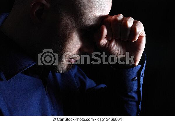 mâle, dépression - csp13466864