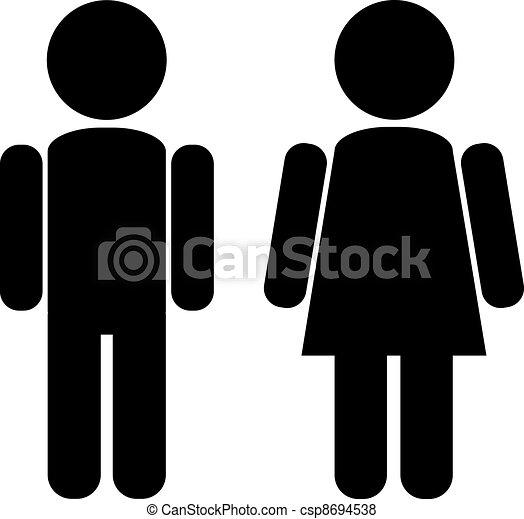 mâle, femme - csp8694538