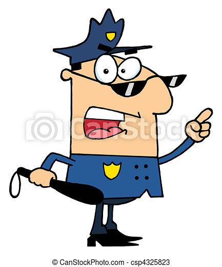 mâle, police, caucasien, officier - csp4325823