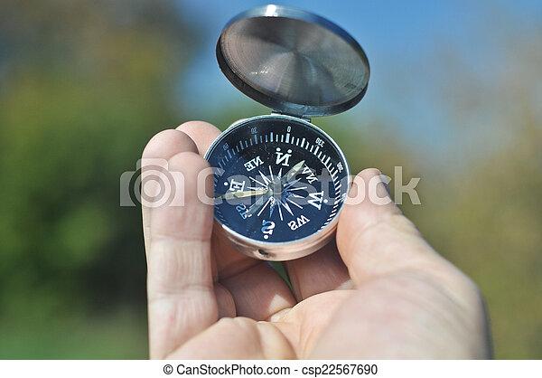 mão., palma, seu, compasso - csp22567690