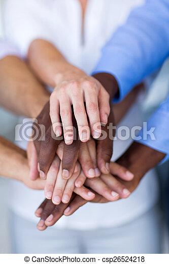mãos, agrupe, pessoas negócio - csp26524218