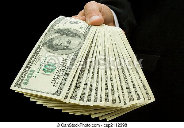 mãos, dinheiro - csp2112398