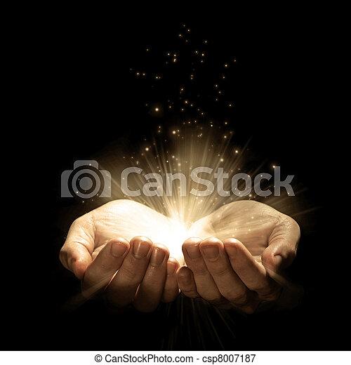 mãos, dois, brilhos - csp8007187