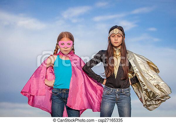 Mädchenkraft, Superhelden - csp27165335