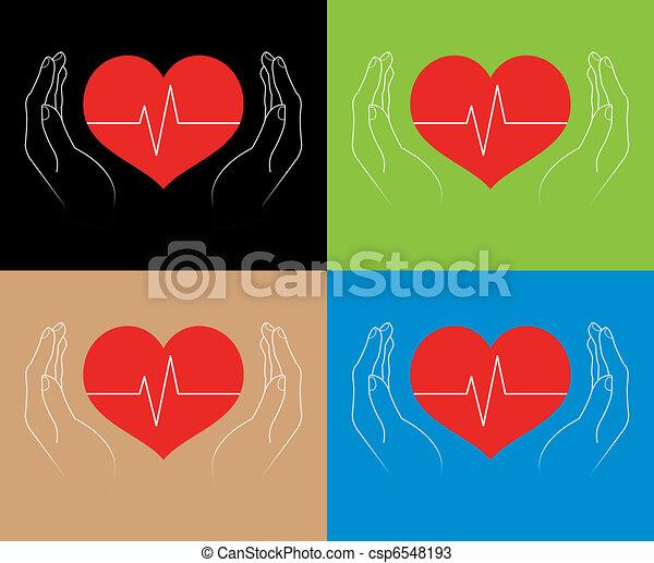 människa lämnar, hjärtan - csp6548193