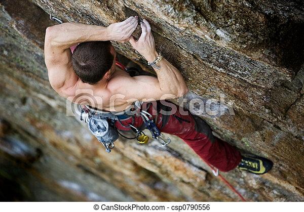 männlich climber, gestein - csp0790556