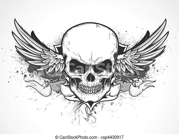 mänsklig skalle - csp4430917