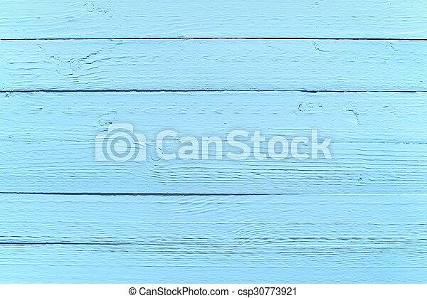 målad, blå, ved, bakgrund, struktur - csp30773921