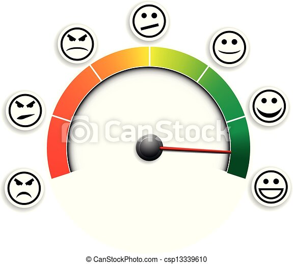 mètre, 03, satisfaction - csp13339610