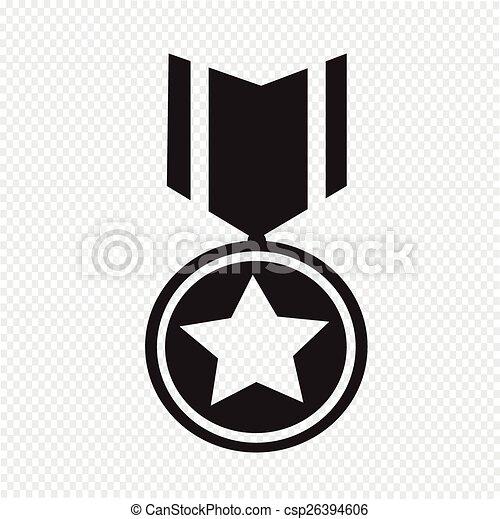 médaille, icône - csp26394606