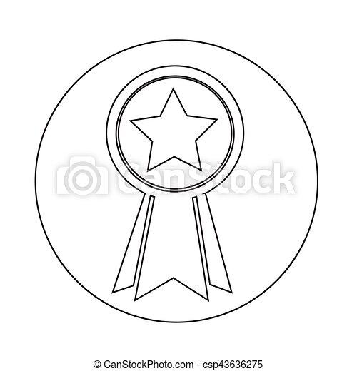 médaille, icône - csp43636275