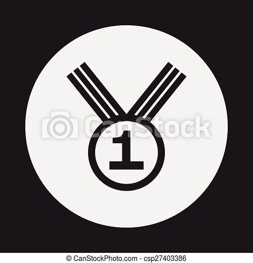 médaille, icône - csp27403386